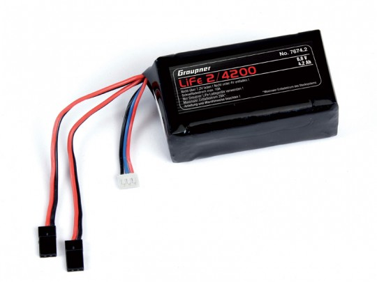 Accus de réception LiFe 2S - 6,6V - 4200mAh JR