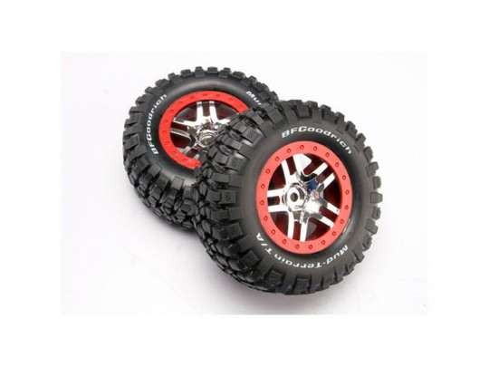 ROUES MONTEES COLLEES BF GOODRICH POUR 4X4 AV/ARR-4X2 ARRIERE (2)
