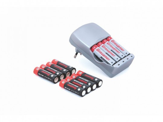 Pack chargeur Energy Set + 8 accus AA 900mAh + 4 accus AA 1800mAh rechargeables