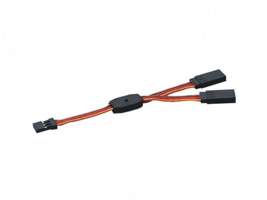 Cordon en V Goldtech pour 2 servos - longueur 110mm