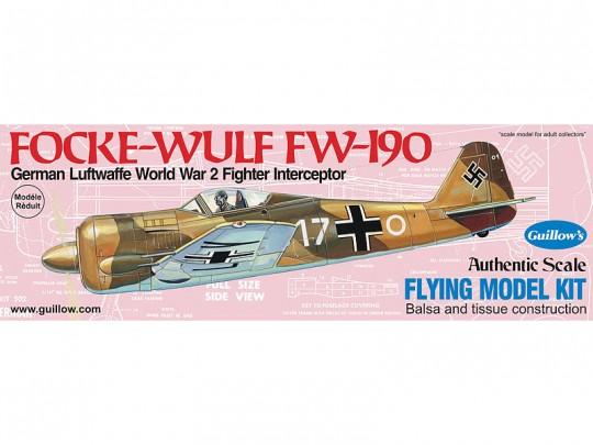 """Avion bois Focke-Wulf FW-190 16.5"""" à moteur à élastique"""