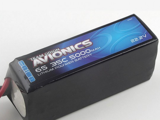 Batterie LiPo 6S Team Orion Avionics - 22,2V - 5000mAh - 35C