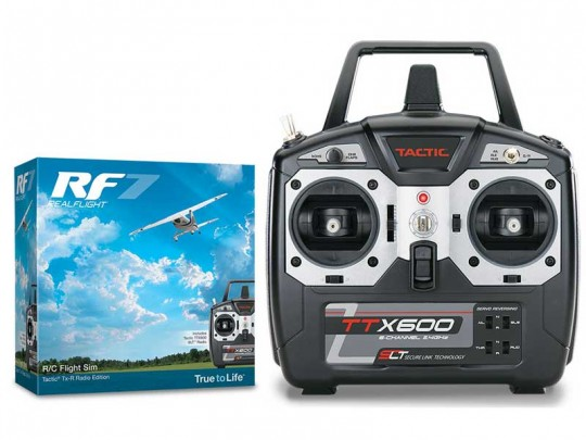 Simulateur de vol Real Flight RF7 - Mode 2 avec émetteur Tactic Tx-Edition
