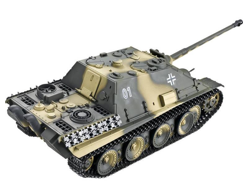 char rc 2 4ghz 1 16 jagdpanther complet bruit fumee. Black Bedroom Furniture Sets. Home Design Ideas