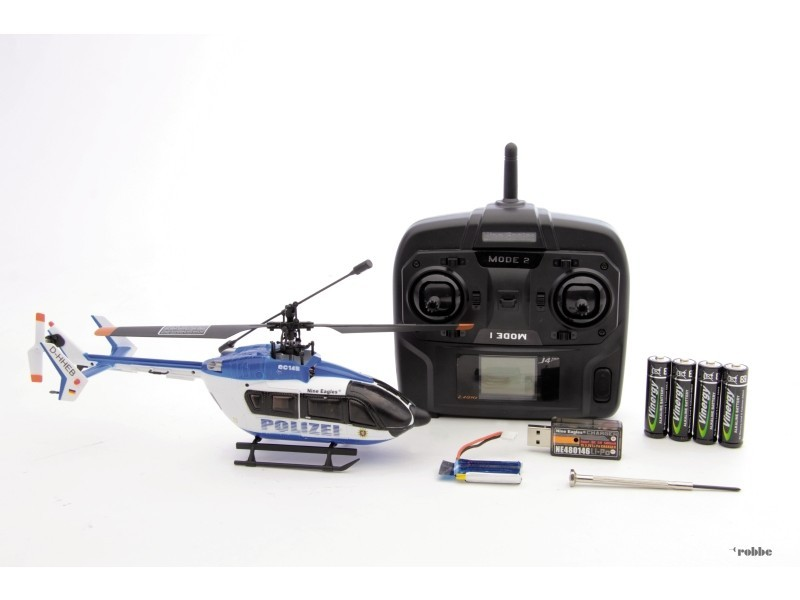 H licopt re solo pro 128 ec145 rtf 2 4ghz nine eagles for Interieur helicoptere