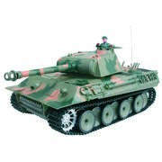 CHAR D'ASSAUT RC 1/16 GERMAN PANTHER COMPLET (BRUIT / FUMEE)