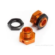 HEXAGONE DE ROUE 5MM ORANGE