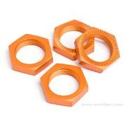 ECROU ROUE 24MM ORANGE S4
