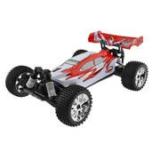 VOITURE BUGGY 1/10 4x4 BRUSHLESS RTR (MOTEUR+VARIO+RADIO 2.4+AQ+CHAR)