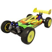 VOITURE BUGGY 1/8 4x4 BRUSHLESS RTR (MOTEUR+VARIO+RADIO2.4+AQ)