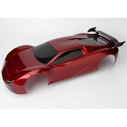 CARROSSERIE ROUGE PEINTE ET DECOREE + AILERON XO-1