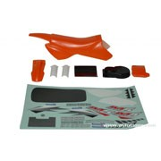 Carrosserie orange et déco pour moto M5 Cross Anderson