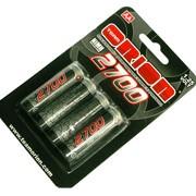 Batteries / piles rechargeables NiMH 1,25V - 2700mAh - AA LR06 - 4 pièces