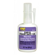 Colle cyanoacrylate spéciale mousses ZAP-O Foam Safe - flacon de 20g