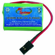 Pack NiMh 6V 750mAh pyramide connecteur JR/Graupner