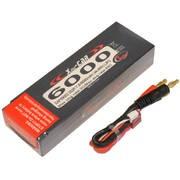 Batterie LiPo Xell CAR 2S 7,4V - 6000mAh 55C - prise Deans